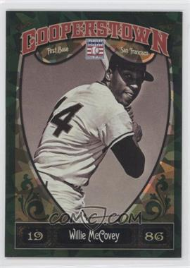 2013 Panini Cooperstown Collection Green Crystal Shard #76 - Willie McCovey /399