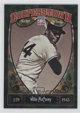2013 Panini Cooperstown Collection Green Crystal Shard #76 - Willie McCovey