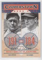 Hack Wilson, Lou Gehrig