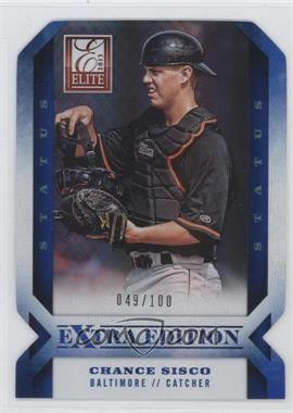 2013 Panini Elite Extra Edition - [Base] - Status Blue Die-Cut #19 - Chance Sisco /100