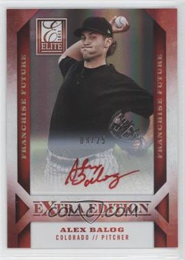 2013 Panini Elite Extra Edition Franchise Future Red Ink [Autographed] #24 - Alex Balog /25