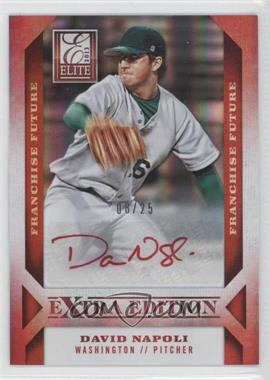 2013 Panini Elite Extra Edition Franchise Future Red Ink [Autographed] #49 - David Napoli /25