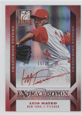 2013 Panini Elite Extra Edition Franchise Future Red Ink [Autographed] #92 - Luis Mateo /25