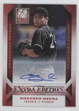 2013 Panini Elite Extra Edition Franchise Future Signatures #89 - Roberto Osuna /224
