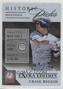 2013 Panini Elite Extra Edition Historic Picks #1 - Craig Biggio