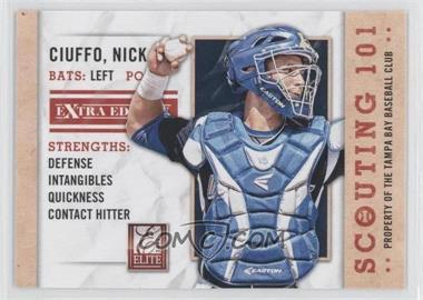 2013 Panini Elite Extra Edition Scouting 101 #2 - Nick Ciuffo