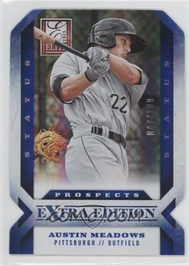 2013 Panini Elite Extra Edition Status Blue Die-Cut #107 - Austin Meadows /100