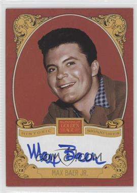 2013 Panini Golden Age Historic Signatures #MBJ - Max Baer Jr.