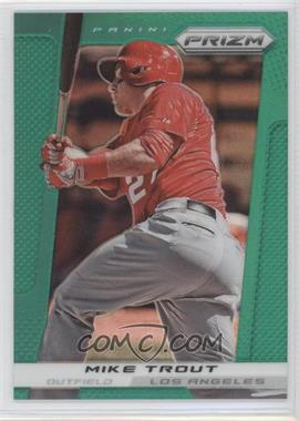 2013 Panini Prizm Retail Green Prizms #159 - Mike Trout