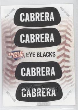 2013 Panini Triple Play Eye Blacks #6 - Miguel Cabrera