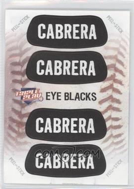 2013 Panini Triple Play Eye Blacks #6 - Miguel Cabrera