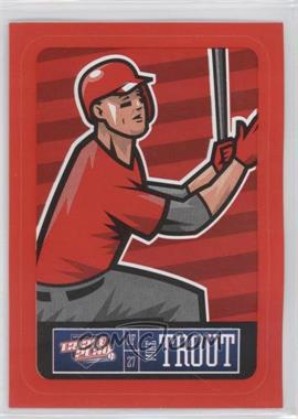 2013 Panini Triple Play Player Stickers Red Border #11 - Mike Trout