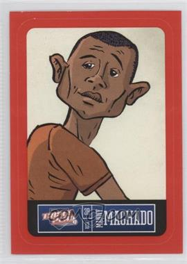 2013 Panini Triple Play Player Stickers Red Border #2 - Manny Machado
