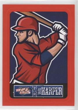 2013 Panini Triple Play Player Stickers Red Border #28 - Bryce Harper