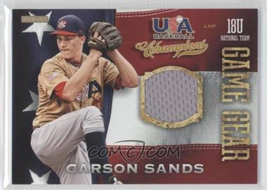 2013 Panini USA Baseball Champions Game Gear Jerseys #16 - Carson Sands
