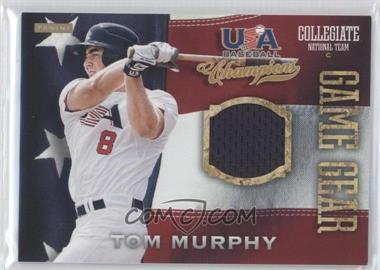 2013 Panini USA Baseball Champions Game Gear Jerseys #21 - Tom Murphy