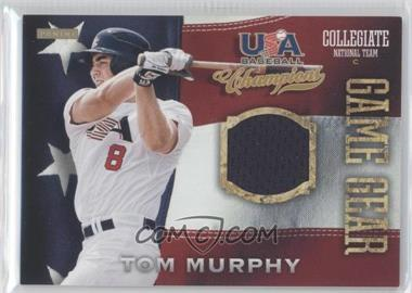 2013 Panini USA Baseball Champions Game Gear Jerseys #21 - Tom Murphy
