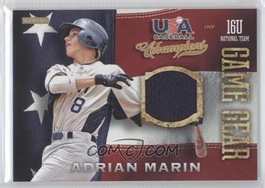 2013 Panini USA Baseball Champions Game Gear Jerseys #57 - Adrian Marin