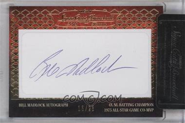 2013 TRISTAR Signa Cuts Cut Autographs Honors - [Base] - Gold #BIMA - Bill Madlock /25