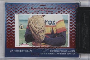 2013 TRISTAR Signa Cuts Cut Autographs Honors - [Base] - Red #KEFO - Ken Forsch /10