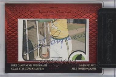 2013 TRISTAR Signa Cuts Cut Autographs Honors Red #BECA - Bert Campaneris /10