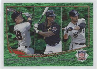 2013 Topps - [Base] - Emerald Foil #189 - 2012 NL Batting Average Leaders (Buster Posey, Andrew McCutchen, Ryan Braun)