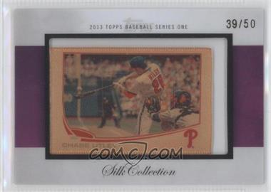 2013 Topps - [Base] - Silk Collection #CHUT - Chase Utley /50