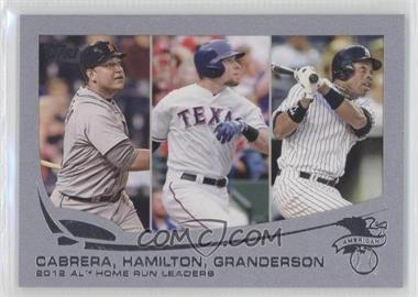 2013 Topps - [Base] - Wrapper Redemption Silver Slate #153 - 2012 AL Home Run Leaders (Miguel Cabrera, Josh Hamilton, Curtis Granderson) /10
