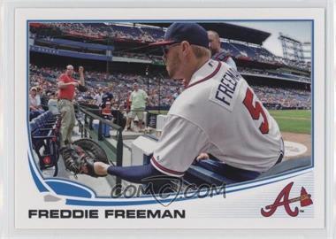 2013 Topps - [Base] #105.2 - Freddie Freeman (Crowd Interaction)