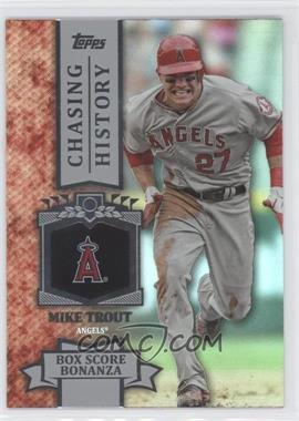 2013 Topps - Chasing History - Holo-Foil #CH-64 - Mike Trout