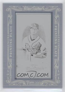 2013 Topps Allen & Ginter's - [Base] - Printing Plate Mini Black Framed #153 - Alex Cobb /1