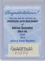Adrian Gonzalez [REDEMPTION Being Redeemed]