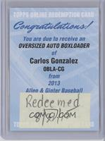 Carlos Gonzalez /15 [REDEMPTION Being Redeemed]