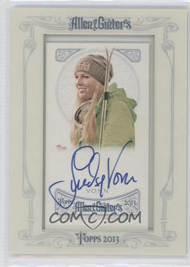 2013 Topps Allen & Ginter's Framed Mini Autographs [Autographed] #AGA-LV - Lindsey Vonn