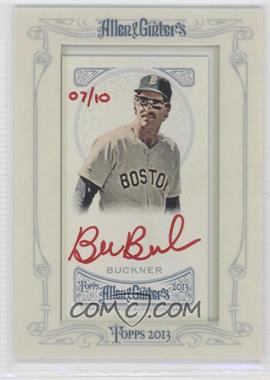 2013 Topps Allen & Ginter's Framed Mini Autographs Red Ink #AGA-BBU - Bill Buckner /10
