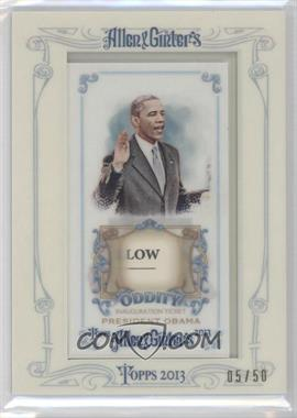 2013 Topps Allen & Ginter's Framed Mini Inauguration Ticket #OR-OIT - Barack Obama /50