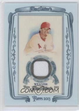 2013 Topps Allen & Ginter's Framed Mini Relics #AGR-JW - Jered Weaver