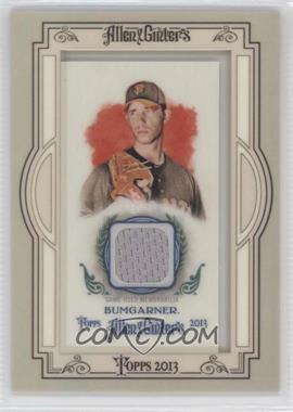 2013 Topps Allen & Ginter's Framed Mini Relics #AGR-MBU - Madison Bumgarner