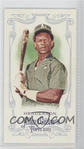 2013 Topps Allen & Ginter's Mini Red Allen & Ginter Baseball Back #RIHE - Rickey Henderson /25