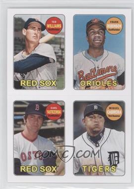 2013 Topps Archives - 1969 4-In-1 Stickers #69S-WRYC - Ted Williams, Frank Robinson, Carl Yastrzemski, Miguel Cabrera