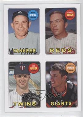 2013 Topps Archives 1969 4-In-1 Stickers #69S-BBMP - Yogi Berra, Buster Posey