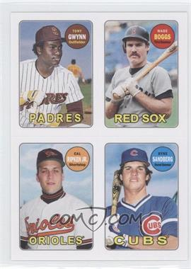 2013 Topps Archives 1969 4-In-1 Stickers #69S-GBRS - Tony Gwynn, Wade Boggs, Cal Ripken Jr., Ryne Sandberg