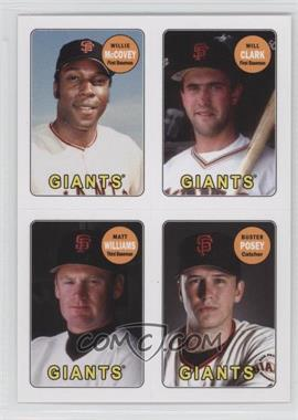 2013 Topps Archives 1969 4-In-1 Stickers #69S-MCWP - Willie McCovey, Will Clark, Matt Williams, Buster Posey