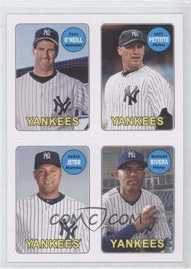 2013 Topps Archives 1969 4-In-1 Stickers #69S-OPJR - Paul O'Neill, Andy Pettitte, Derek Jeter, Mariano Rivera