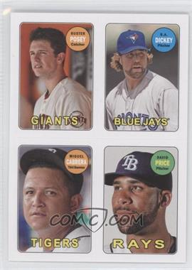 2013 Topps Archives 1969 4-In-1 Stickers #69S-PDCP - Buster Posey, R.A. Dickey, David Price