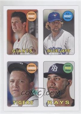 2013 Topps Archives 1969 4-In-1 Stickers #69S-PDCP - Buster Posey, R.A. Dickey, Miguel Cabrera, David Price