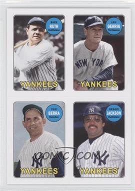 2013 Topps Archives 1969 4-In-1 Stickers #69S-RGBJ - Babe Ruth, Lou Gehrig, Yogi Berra, Reggie Jackson