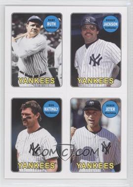 2013 Topps Archives 1969 4-In-1 Stickers #69S-RJMJ - Babe Ruth, Reggie Jackson, Don Mattingly, Derek Jeter