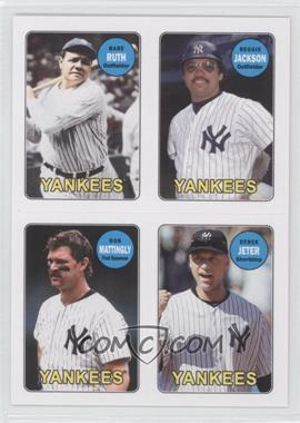 2013 Topps Archives 1969 4-In-1 Stickers #69S-RJMJ - Babe Ruth, Reggie Jackson, Don Mattingly, Derek Jeter