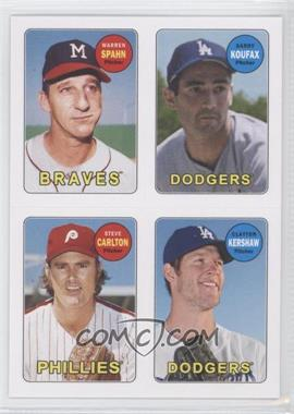 2013 Topps Archives 1969 4-In-1 Stickers #69S-SKCK - Warren Spahn, Starlin Castro, Clayton Kershaw, Sandy Koufax